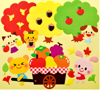 果物狩りの壁面飾り