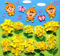 菜の花がキレイな壁面飾り